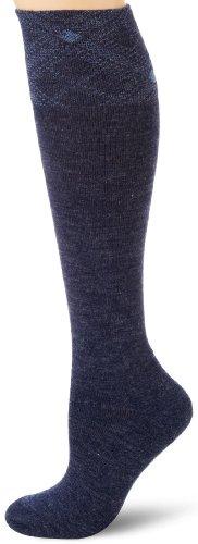 (Carhartt Women's Plaid Cuff Knee High Socks, Denim, Shoe Size: 5.5-11.5)