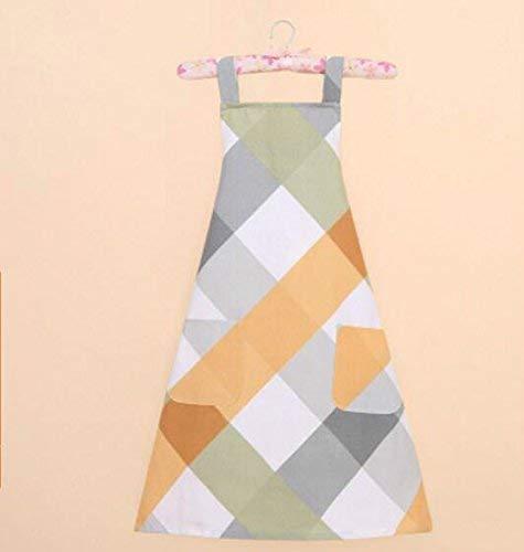 ZHAS Fashion Antifouling Smock Plaid Sleeveless Apron for Home (Colorful)
