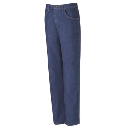 Canvas Relaxed Fit Jeans (Red Kap Relaxed Fit jean, Men, Prewashed Indigo, 3232 PD60PW-32-32)