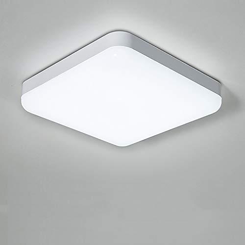Yafido Led-plafondlamp, waterdicht, IP56, 30 W, 2400 lm, koudwit, 6500 K, vierkante plafondlamp voor keuken, slaapkamer…