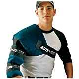 Adult Shoulder/Arm Ice Wrap for Baseball/Softball Pitchers (Elastic Straps for Universal Fit)