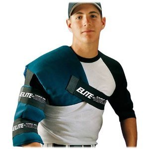 Adult Shoulder/Arm Ice Wrap for Baseball/Softball Pitchers (Elastic Straps for Universal Fit) (Arm Elite)