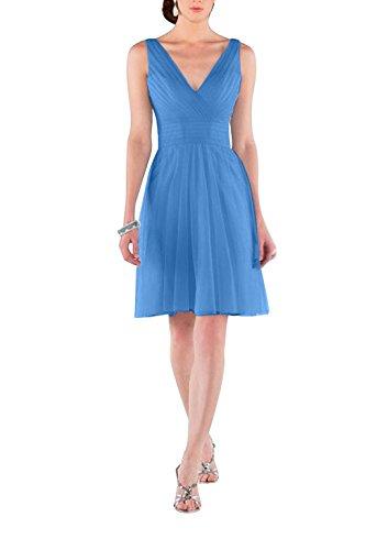 Beige Charmant Linie A V Neu Partykleider Blau Kurz Cocktailkleider Damen Einfach Tuell Ausschnitt Promkleider 4fg4qrx