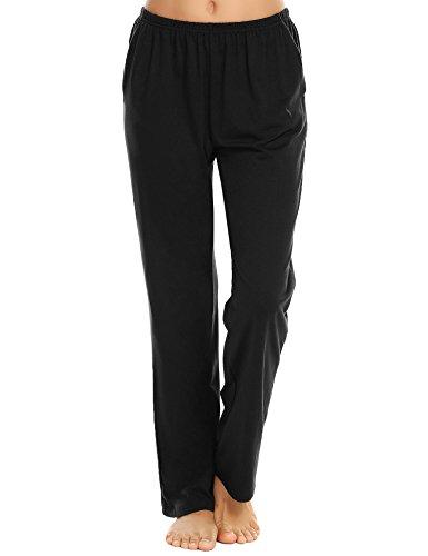 - Ekouaer Women's Comfy Pajama Pants Casual Pj Bottoms Long Loungewear Pants (Black,XL)