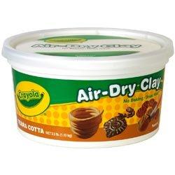 Crayola Bulk Buy (2-Pack) Air Dry Clay 2.5lb Terra Cotta 57-5064 (Activ Clay)
