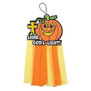 Christian Pumpkin Mobile Craft Kit (Christian Halloween Sunday School Crafts)