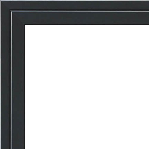 30x40 - 30 x 40 Black and Silver Pinstripe Solid Wood Frame with UV Framer's Acrylic & Foam Board Backing - Great For a Photo, Poster, Painting, Document, or Mirror by The Frame Shack