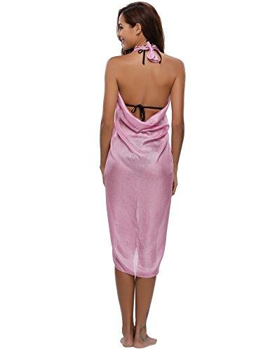 Tenue Cache Élégante De Robe Étole Jupe Scarf Couvrir Soie Bain Brillante Châle En Mariage Pashmina Mousseline Écharpe Bikini Plage Maillot Ample Rose Cover Up maillots Foulard SwqHYw7F