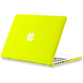 """Kuzy - Rubberized Hard Case for Older MacBook Pro 13.3"""" with Retina Display A1502 / A1425 13-inch Plastic Shell Cover - NEON YELLOW"""