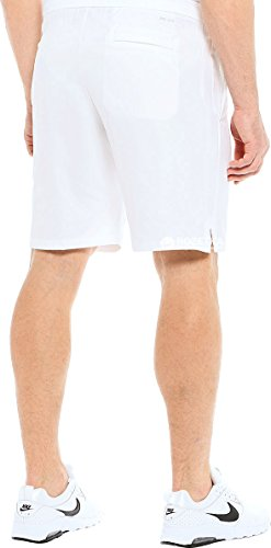 Nike Mens Domstol Dri-fit 9 Tennis Shorts Vit / Kall Grå