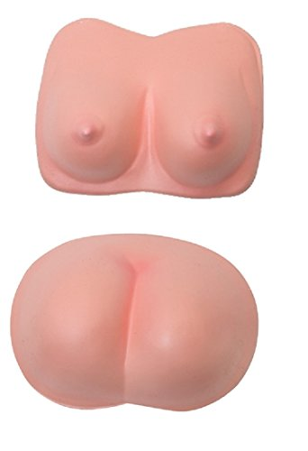 Adult Big Eva Foam Fake Butt and Boobs Bum Buns Breasts Costume Buttocks Set
