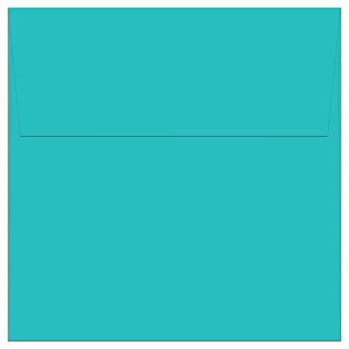 "100 Aqua Blue Ocean Square Envelopes - 5.5"" x 5.5"" - Square Flap"