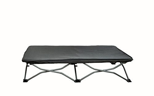 Regalo My Cot Portable Travel Bed, Grey, Includes Fitted Sheet and Travel Case -