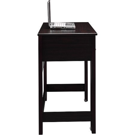 Writing Laptop Desk, Drawer, Open Storage Space, 2 Desk Surface, Space Saver, Perfect for Small Room, Bedroom, Home Office, Dorm, Home Furniture
