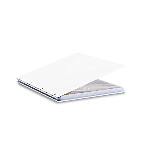(Pina Zangaro Vista 11x14 Portriat Screwpost Binder Snow, Includes 20 Pro-Archive Sheet Protectors (34071))