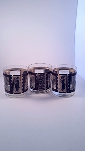 3 Roaring Twenties Wine Glasses