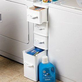 Ultra slim wicker look plastic chest home for A bathroom item that starts with n