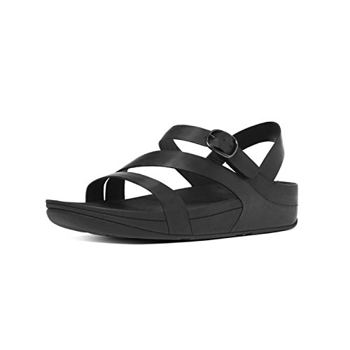 Fitflop Z Tm The Skinny Leather Sandal Nero Punta Donna all 090 Aperta Black cross tEqtrTnxH