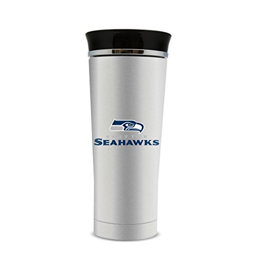 (NFL Seattle Seahawks 18oz Double Wall Stainless Steel Leakproof Thermo Tumbler)