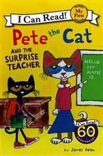 Pete The Cat My First I Can Read 5 books Collection (The Surprise Teacher, Play Ball, Train Trip, Scuba-Cat, & Too Cool For School) ()