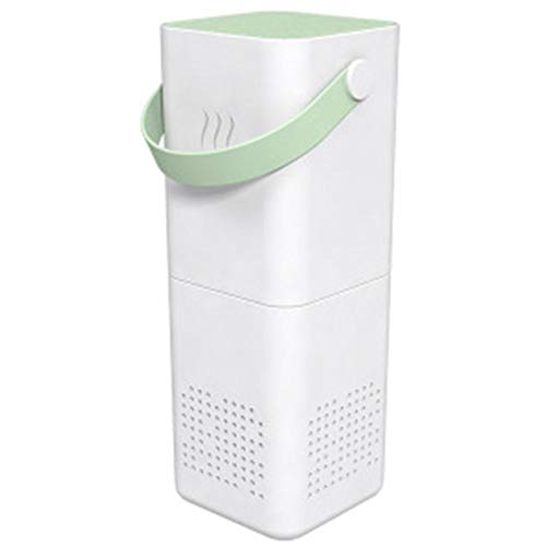 Gokeop Air Purifier for Home Bedroom Office and When Going Out Automatically Senses Filters The Breathing Air Appliance Mini Portable with Handle Air Ionizer Light Green