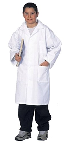 Kid's Lab Coat - 100% cotton - size 10, 12, 14 and 16 Years old (children teens high school college) (14 Years old) -