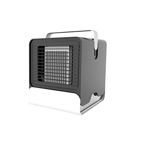 Indexshop Personal Air Conditioner Fan Small Desktop Fan Mini Fan Noiseless Evaporative Air Humidifier Circulator Cooler for Office, Dorm, Room, Outdoor (Blak)