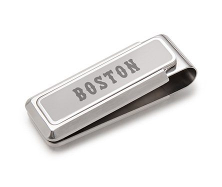 Etched Boston Money Steel M Stainless Sox Red Clip Clip IgqSqwH