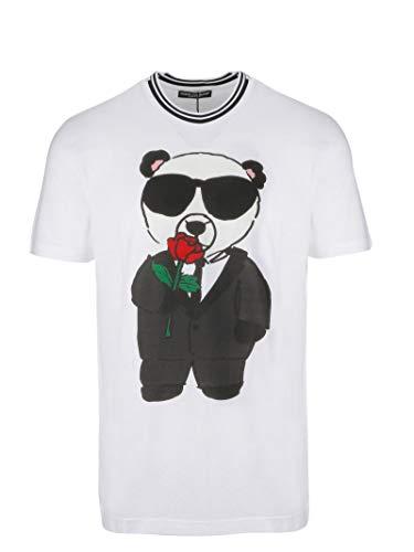 & Dress Dolce Shirt Cotton Gabbana (Dolce e Gabbana Men's G8js9thh7hthwx24 White Cotton T-Shirt)