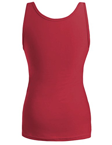 kayamiya Women's 1920S Style Glitter Sequined Vest Tank Tops L Red by kayamiya (Image #1)