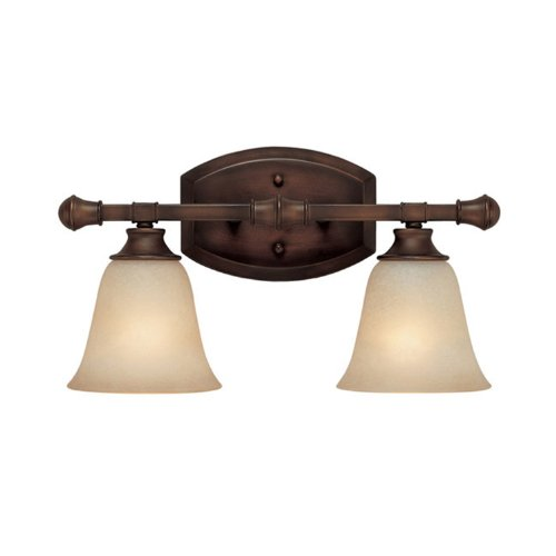 Capital Lighting 1332BB-287 Vanity with Mist Scavo Glass Shades, Burnished Bronze (Cream Scavo Glass Shades)
