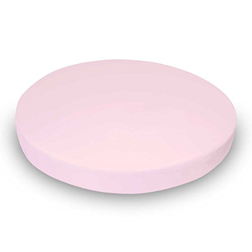 SheetWorld Round Crib Sheet - Baby Pink Jersey Knit - Made I