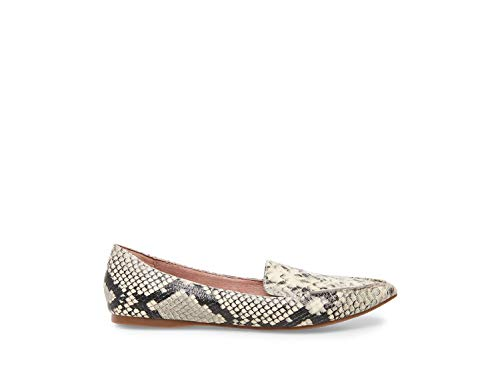 Leather Flats Green - Steve Madden Women's Feather Snake 430 7 US