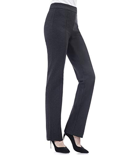 Soshow Work Pants Pull On Pants Summer for Women Ladies Bootcut Trousers Capris for Work Black Grey