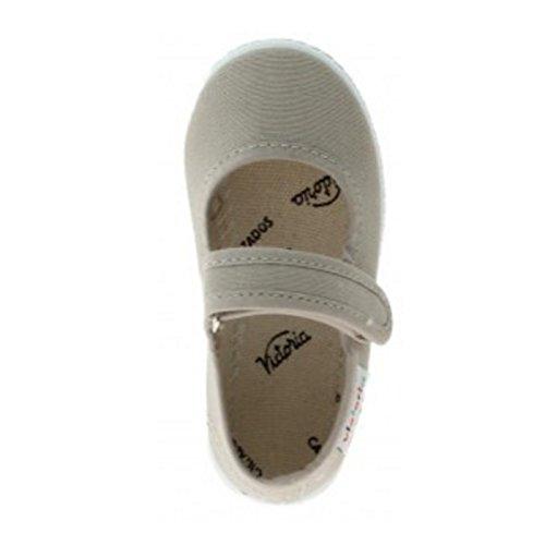 Zapatillas Victoria 06611 - Merceditas de Velcro Merlot ni?as Beige