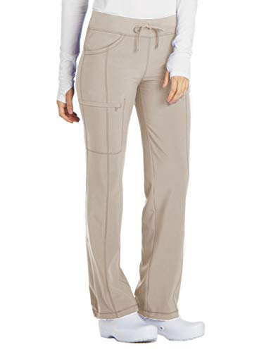 Cherokee Infinity 1123A Low Rise Drawstring Pant Khaki M Petite