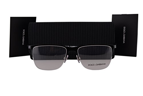 Dolce & Gabbana DG1283 Eyeglasses 55-17-140 Black 01 DG - Cat Eye Dolce And Eyeglasses Gabbana
