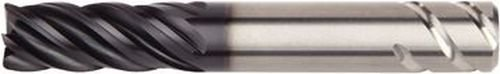 WIDIA Hanita 5V0E05000AT VariMill II ER 5V0E HP Finishing End Mill, 0.015'' Rad, 0.5625'' LOC, 0.1875'' Cutting Diameter, Carbide, AlTiN, RH Cut, 5-Flute