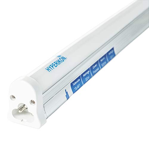 Hyperikon T5 LED Integrated Tube, 4 Foot 22W, Single Linkable Fixture, 5000k Bright, Built in Switch