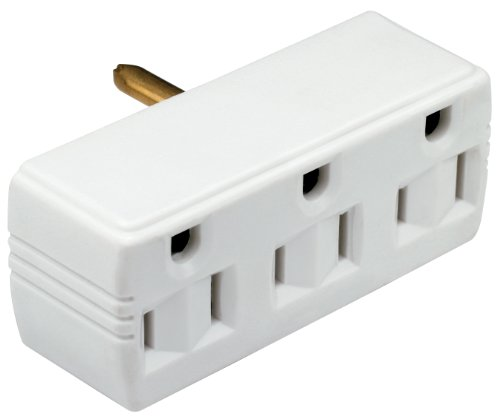 Legrand - Pass & Seymour 1147LTWCC5 Triple Tap Adapter Lighted Ground Great for Multipurpose Use