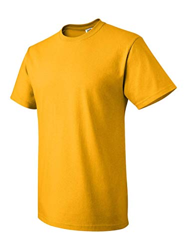 Fruit of the Loom Men's Short Sleeve Crew Tee, Small  - Gold