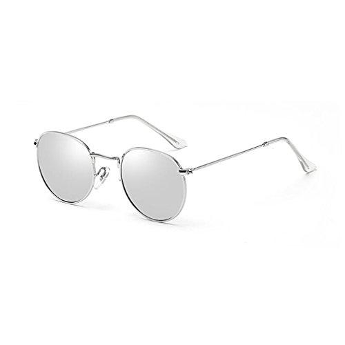 Playa la Anti Decorativo 2 Gafas 3 QZ de Personalidad Color Movimiento HOME Vintage Calle Moda de UV400 Sol con Espejo Ultraligero luz Latido Viaje de polarizada Reflectante WB8qXfqO4w