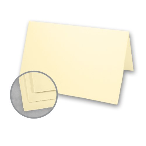 Arturo Folded Cards (Arturo Buttercream Folded Cards - Arturo Large Invitation Folded (7.88 x 11.75) 96 lb Cover Felt 100 per Box)