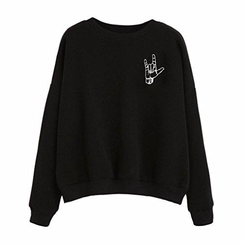 Women Sweater,Neartime Long Sleeve Hoodie Sweatshirt Woman Hooded Pullover Tops (XL, Finger) Finger Sweatshirt