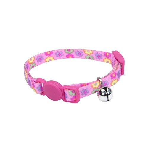 (Coastal Pet Products Li'l Pals Adjustable Breakaway Kitten Safety Collar with Bell | Daisies Multi-color | Adjust from 6 to 8 Inches | (1-Unit))
