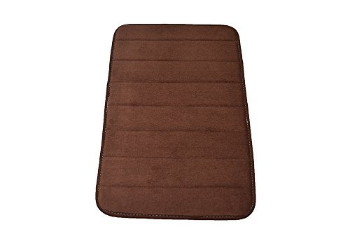 Townhouse Rugs Luxurious 17-Inch by 24-Inch Memory Foam Bath Rug, Brown