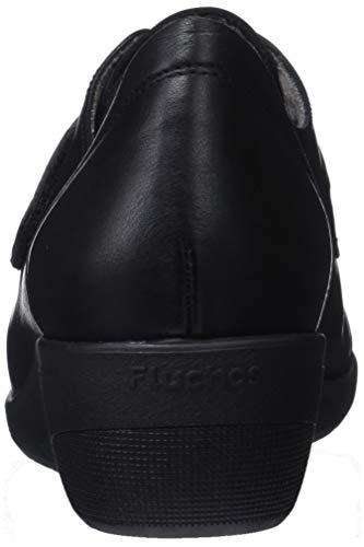 Negro Lena sugar Negro Derby Zapatos Nobuck Fluchos Mujer Para Cordones De OUFqfvq