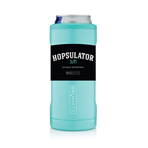 BrüMate Hopsulator Slim Double-walled Stainless Steel Insulated Can Cooler for 12 Oz Slim Cans -