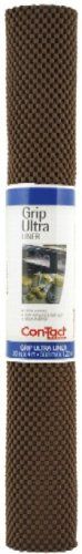 Con-Tact Brand Grip Premium, 04F-C6O1B-06, Non-Adhesive Non-Slip Shelf Liner and Drawer Liner, Chocolate, 20 x 4