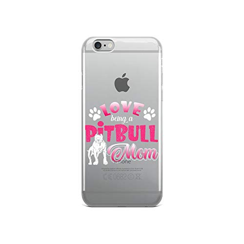 iPhone 6/6s Pure Clear Case Crystal Clear Cases Cover Womens Love Being Pitbull Mom Transparent